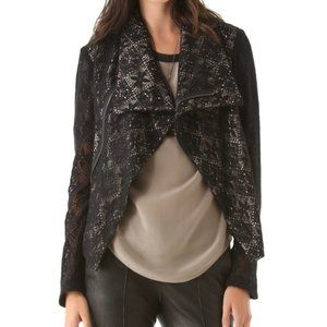 Anthropologie Lace Moto Bomber Jacket by SW3 NWOT